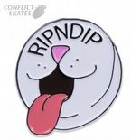 "RIPNDIP ""Pill"" Pin Badge Skateboard 1.25 inch 3cm Metal & Enamel Cat Nermal"